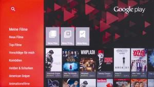 Nutzen Sie bereits ein Google-Konto, so können Sie diese Inhalte kostenlos auf dem Android-TV abspielen