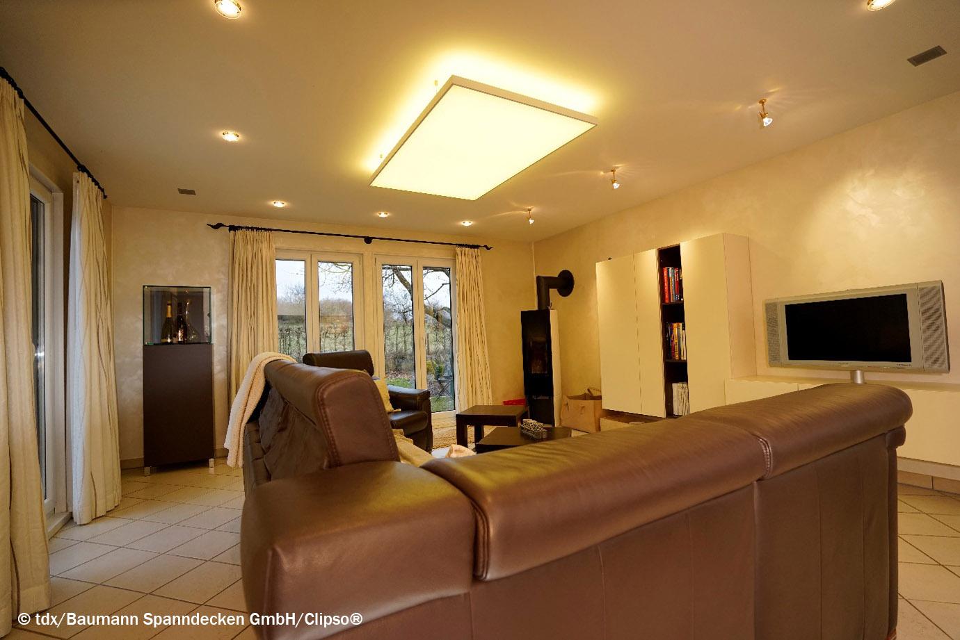 schallschutz und tolles licht mit spanndecken smart wohnen. Black Bedroom Furniture Sets. Home Design Ideas