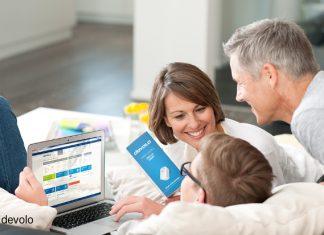 Mit dem devolo Home Control können Familien beruhigt ihr Zuhause genießen.