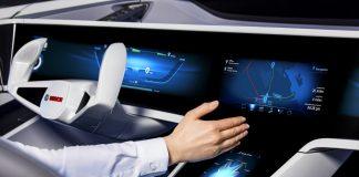 Blick in das Auto der Zukunft