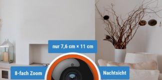 Zu den technischen Details der Smartfrog-Kamera in HD-Qualität zählen unter anderem Alarmfunktion und Bewegungsmelder. Bild: Smartfrog