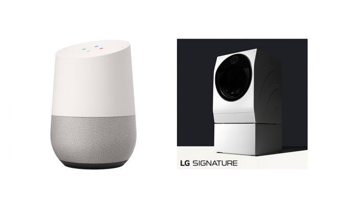 In den USA bereits kurzfristig möglich: Die Steuerung der Waschmaschine aus der LG Signature Reihe per Sprachbefehl an den persönlichen digitalen Assistenten Google Home