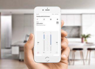 Die Bedienung des Server Gira X1 funktioniert nicht nur überall im Gebäude, sondern auch aus der Ferne: Mit der App zum Gira X1 werden mobile Geräte zu komfortablen Bedienelementen der intelligenten Gebäudetechnik.