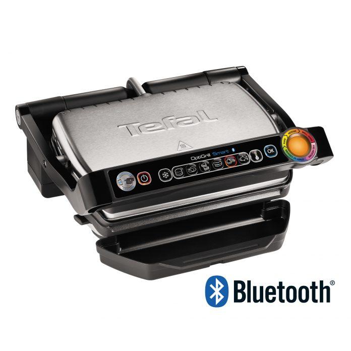Der OptiGrill Smart bietet exklusive Technologie mit Bluetooth-Funktion und App-Steuerung. © Tefal