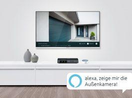"""Das Smart-Home-System von TechniSat erhält Alexa-Anbindung. Und der Fernseher übernimmt die Funktion als """"Master Display"""". © TechniSat"""