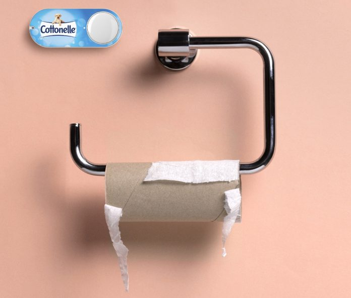 Das Toilettenpapier geht zur Neige? Mit Amazon Dash Buttons ist es schnell bestellt. © AMAZON