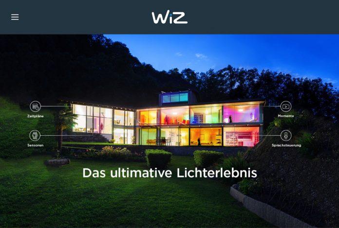 """WiZ steht hinter dem Leitfaden """"So gelingt der Durchbruch zum Smart Home!"""" und will potentiellen Kunden die greifbaren Vorteile einer vernetzten, smarten Beleuchtung nahezubringen. © Screenshot WiZ"""