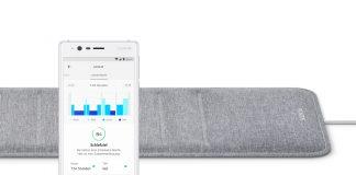 Der Schlafsensor Nokia Sleep - eine WLAN-fähige Matte unter Matratze - überwacht den Schlaf.